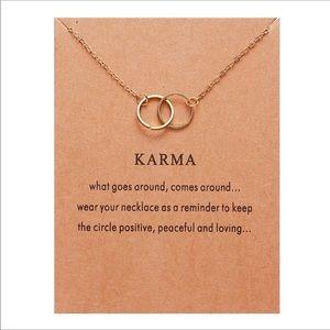 Dainty karma necklace
